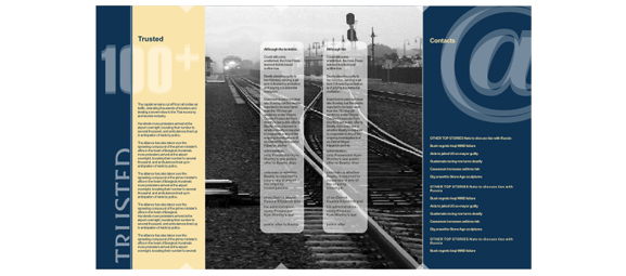 8-pages Z-fold brochure design.
