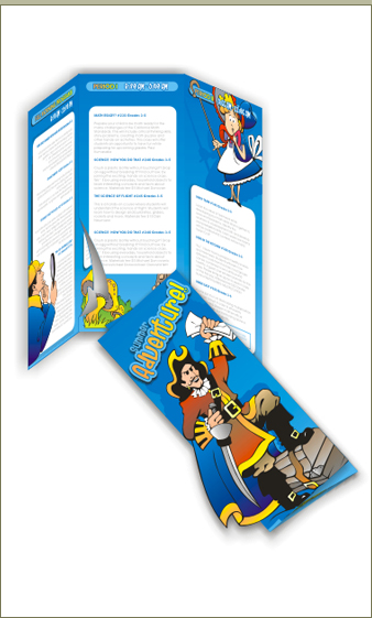 Small 6-page tri-fold brochure design.