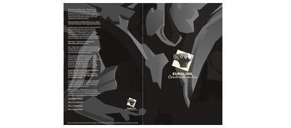 Small 4-page bi-fold brochure design.