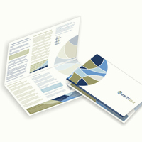 Small 4-pages bi-fold brochure design.